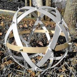Genesa Pentasfera Elementa in alluminio con equarore in rame diametro 45 cm