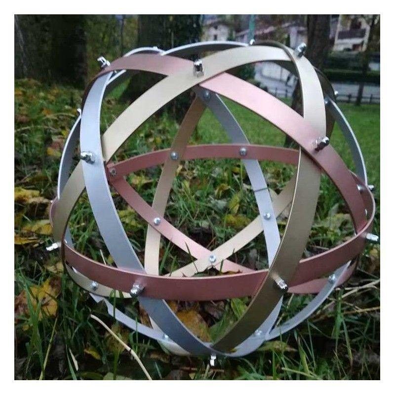 Genesa Pentasfera magistri in alluminio, rame, ottone diametro 31 cm